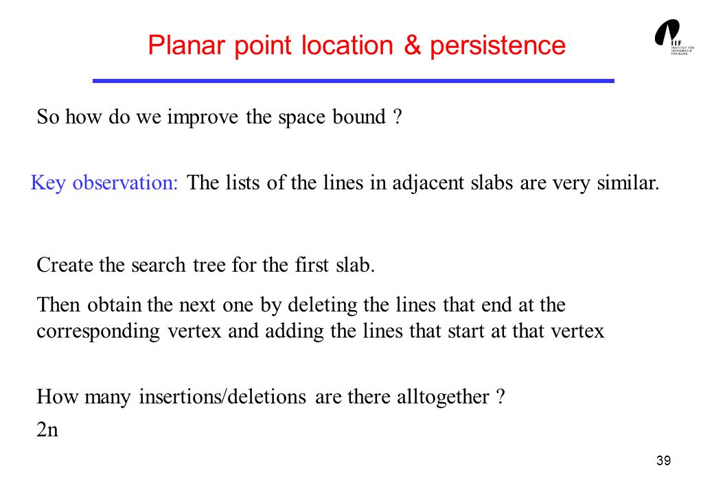 Planar point location & persistence