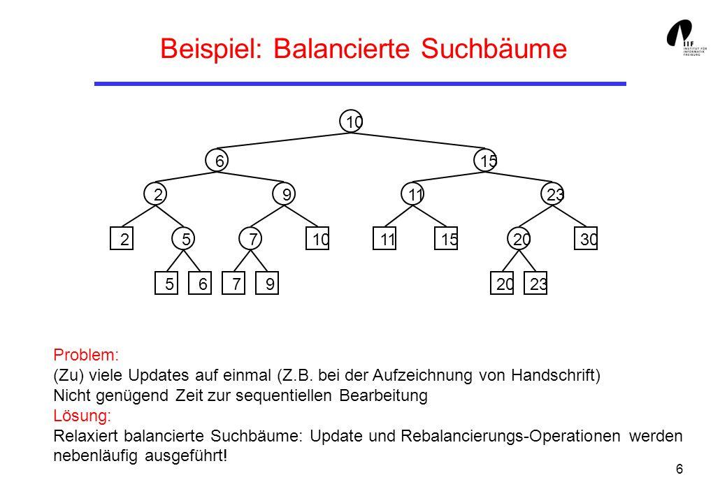Beispiel: Balancierte Suchbäume