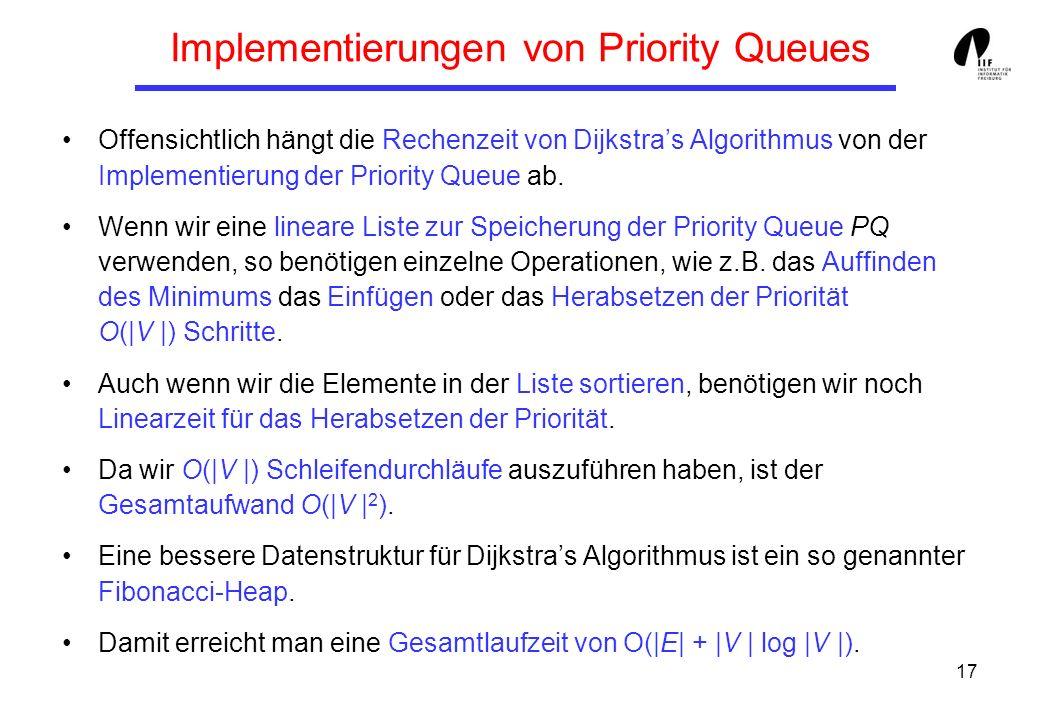 Implementierungen von Priority Queues