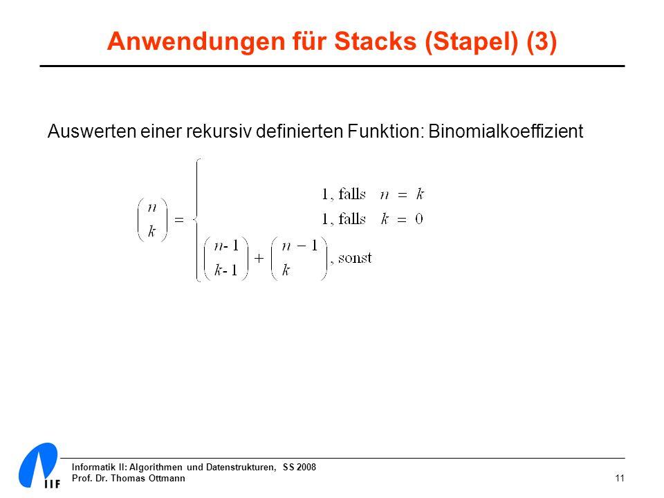 Anwendungen für Stacks (Stapel) (3)