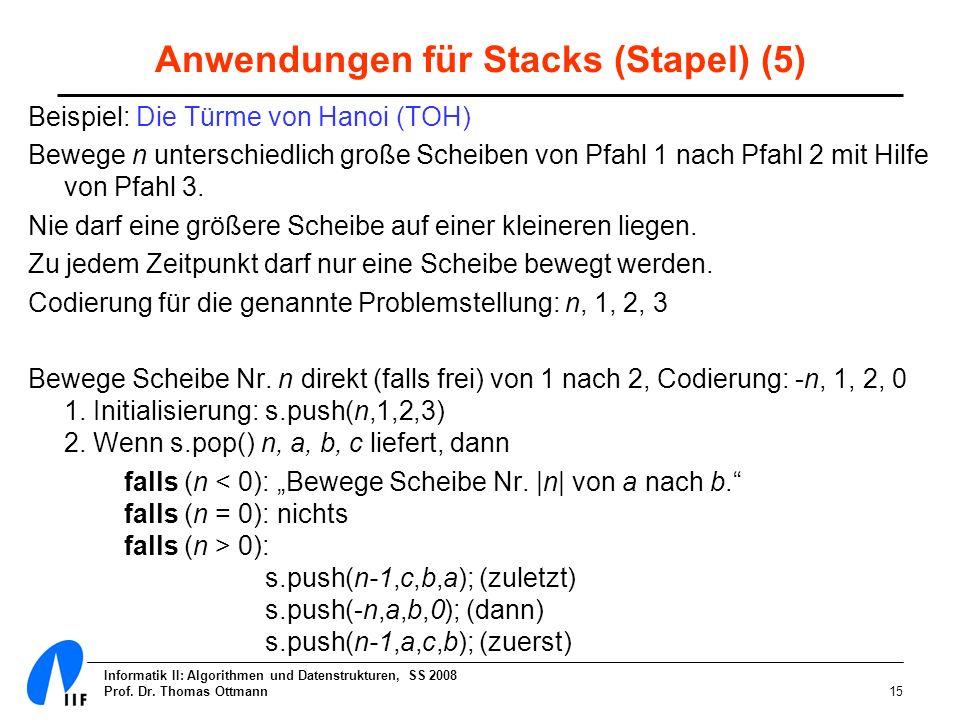 Anwendungen für Stacks (Stapel) (5)