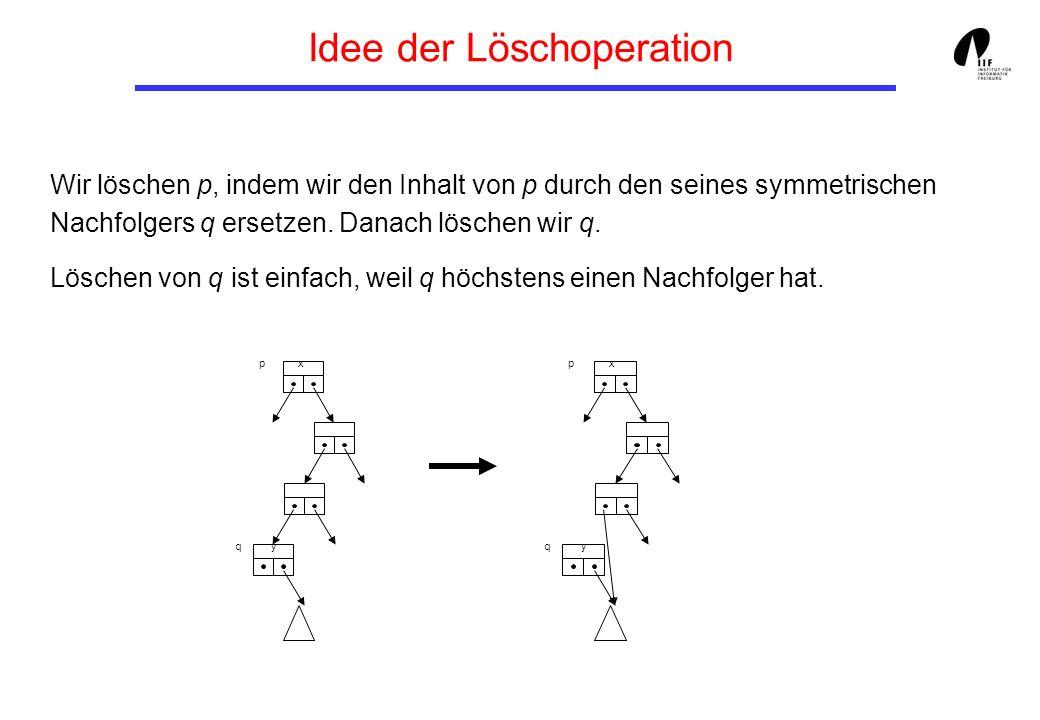 Idee der Löschoperation