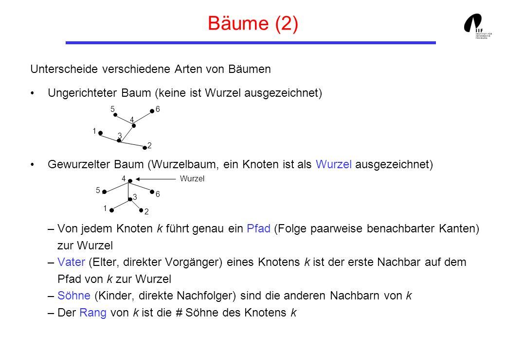 Bäume (2) Unterscheide verschiedene Arten von Bäumen