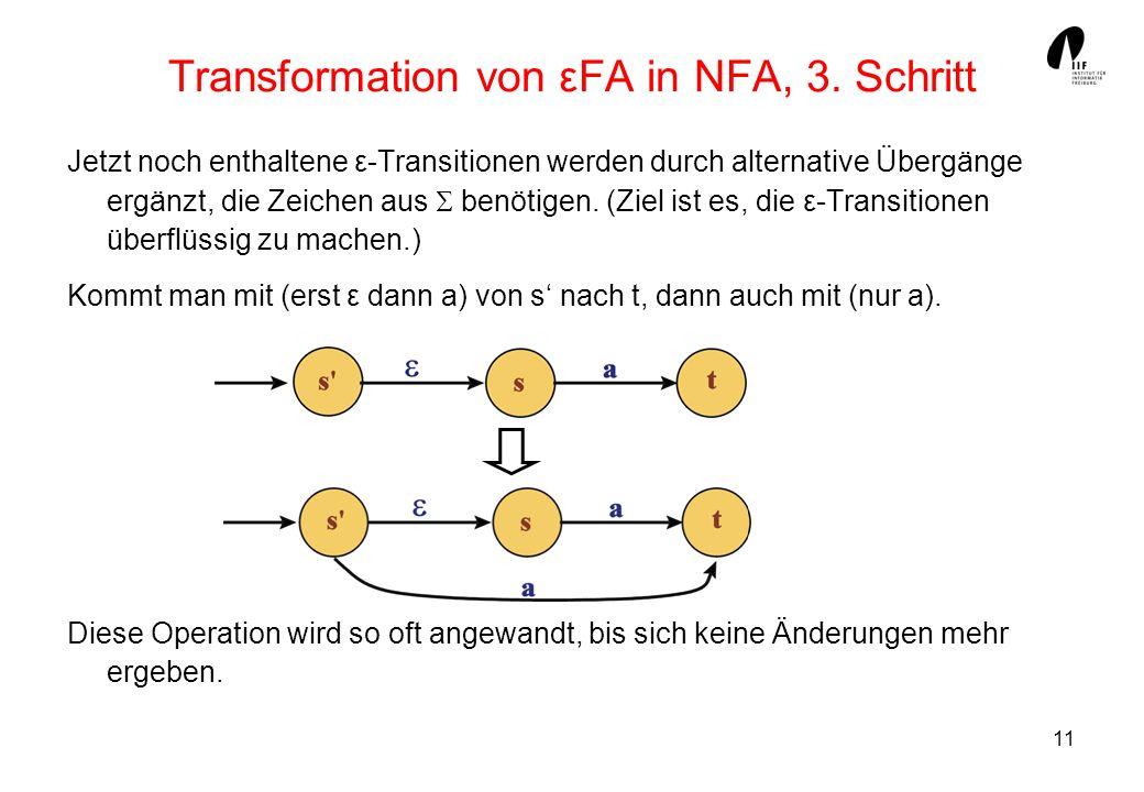 Transformation von εFA in NFA, 3. Schritt