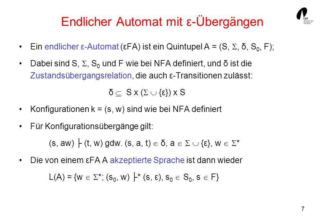 Endlicher Automat mit ε-Übergängen