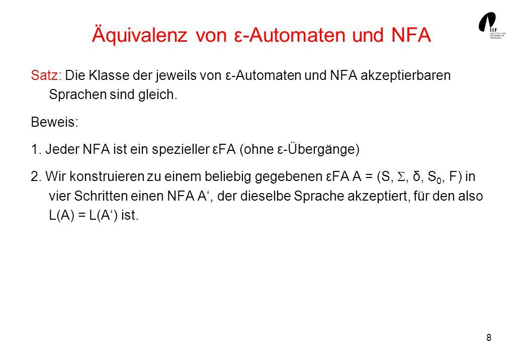Äquivalenz von ε-Automaten und NFA