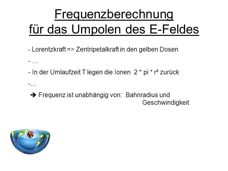 Frequenzberechnung für das Umpolen des E-Feldes