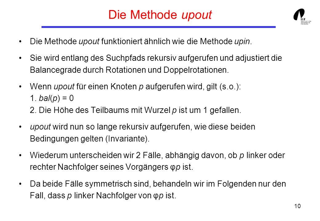 Die Methode upoutDie Methode upout funktioniert ähnlich wie die Methode upin.