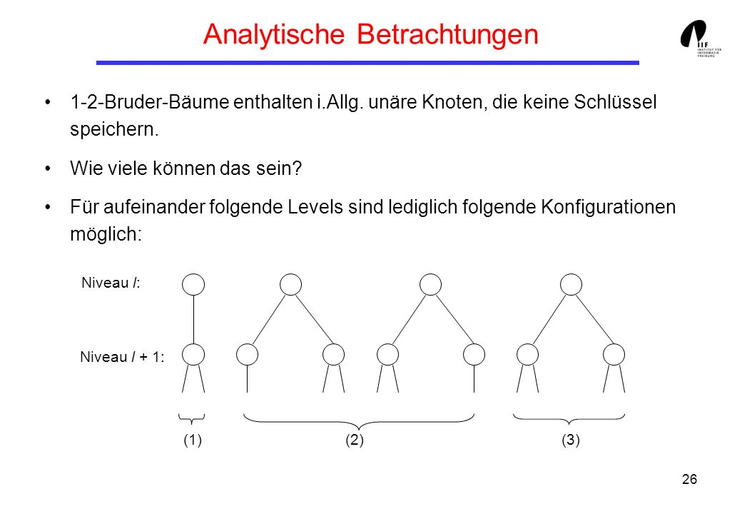 Analytische Betrachtungen