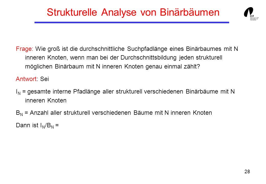 Strukturelle Analyse von Binärbäumen