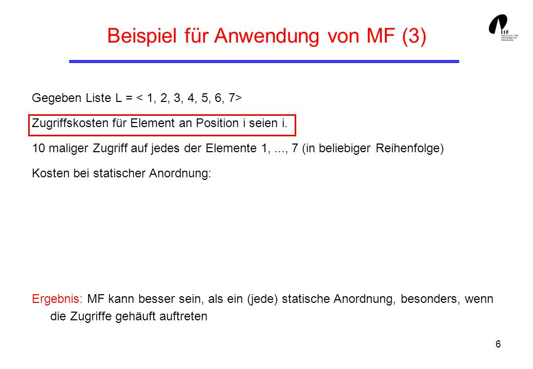 Beispiel für Anwendung von MF (3)