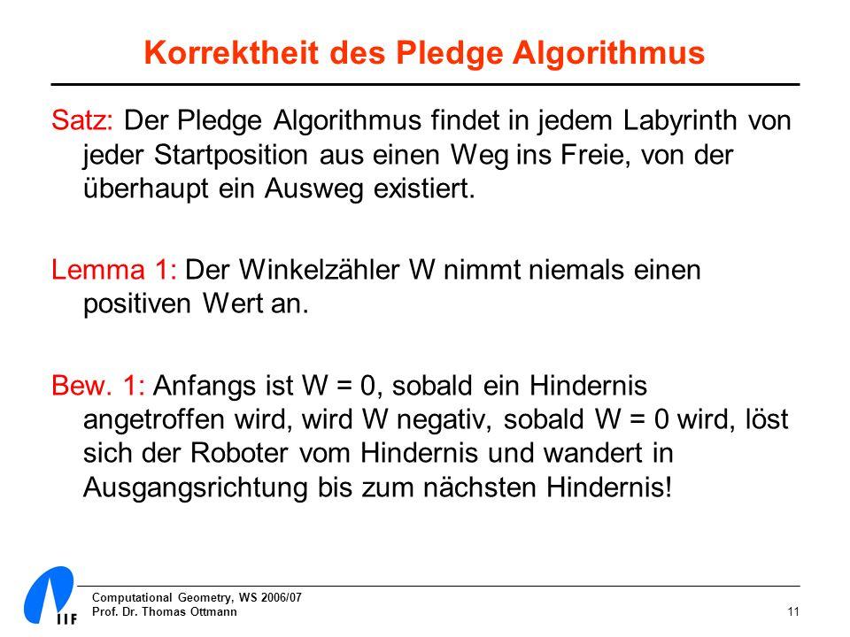 Korrektheit des Pledge Algorithmus