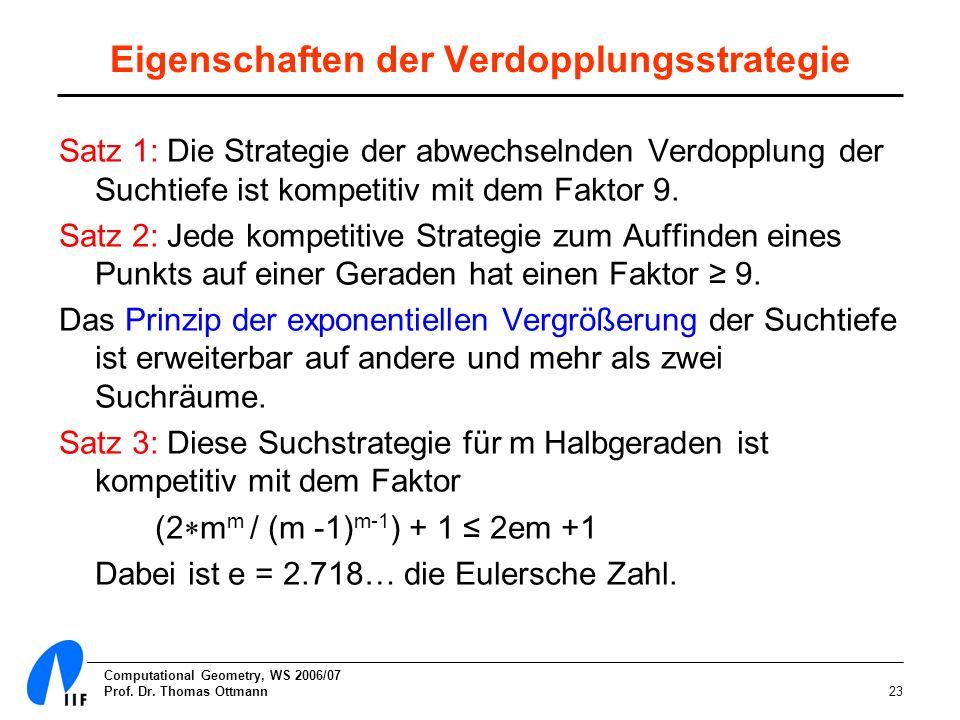 Eigenschaften der Verdopplungsstrategie
