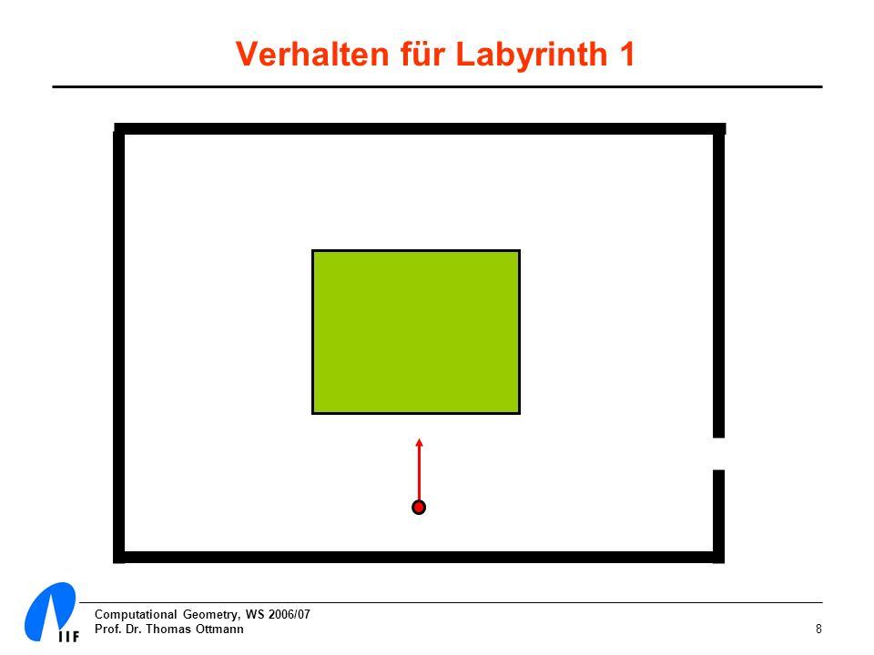Verhalten für Labyrinth 1
