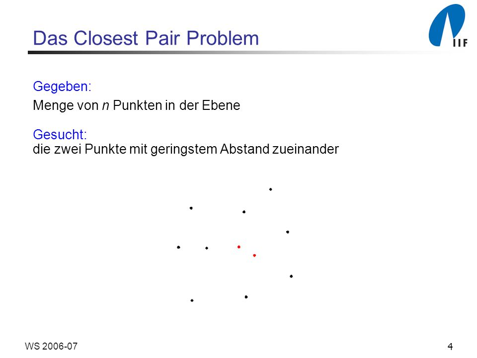 Das Closest Pair Problem