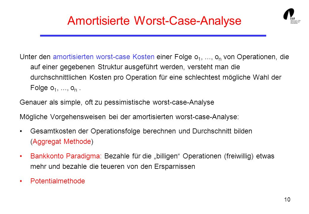 Amortisierte Worst-Case-Analyse