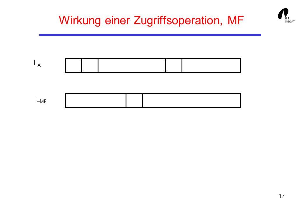 Wirkung einer Zugriffsoperation, MF
