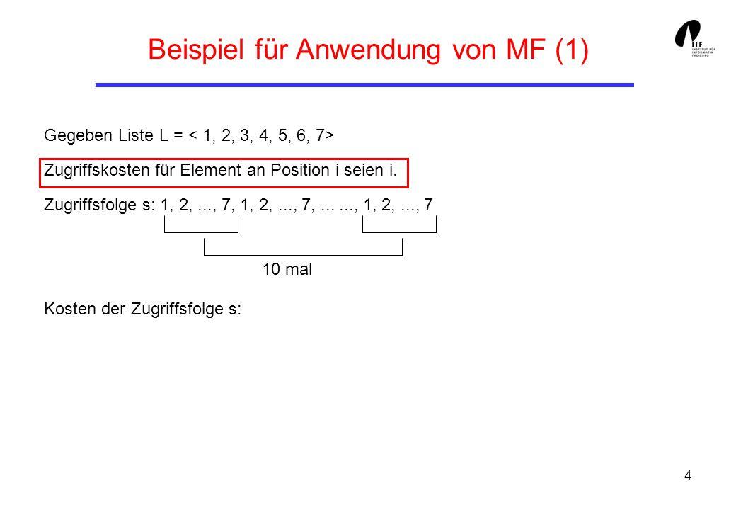 Beispiel für Anwendung von MF (1)
