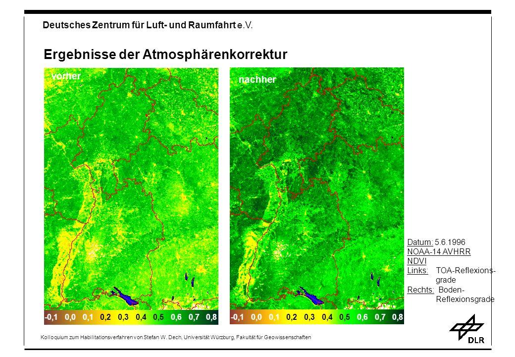Ergebnisse der Atmosphärenkorrektur