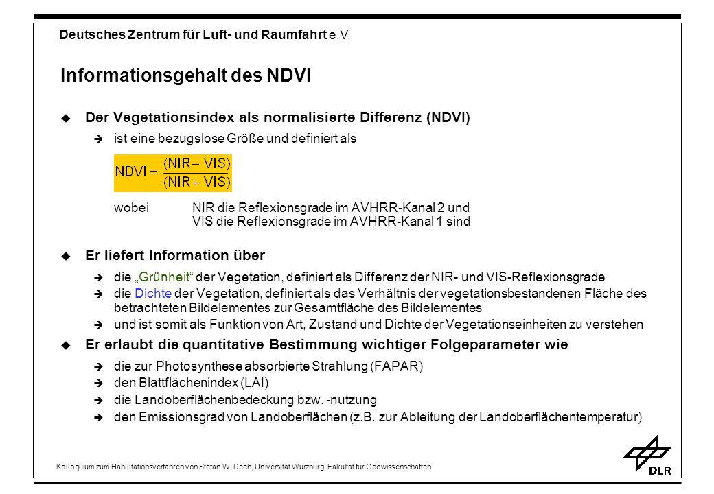 Informationsgehalt des NDVI