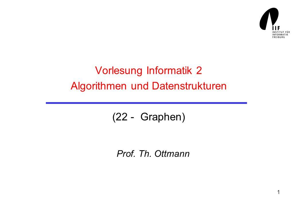 Vorlesung Informatik 2 Algorithmen und Datenstrukturen (22 - Graphen)