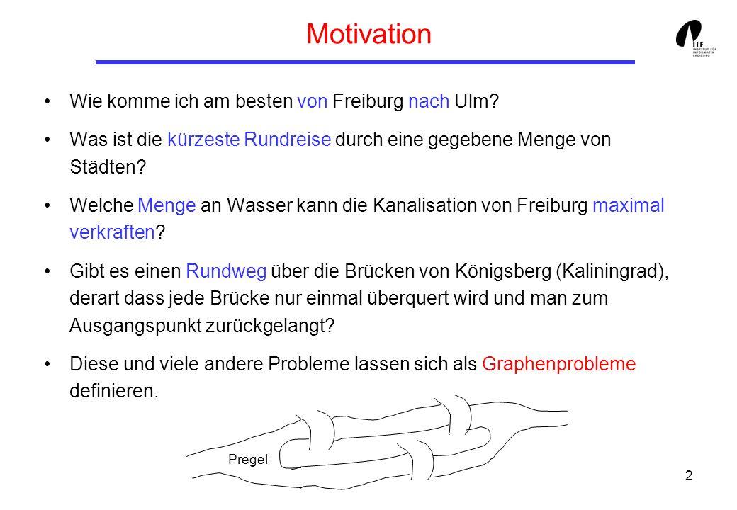 Motivation Wie komme ich am besten von Freiburg nach Ulm