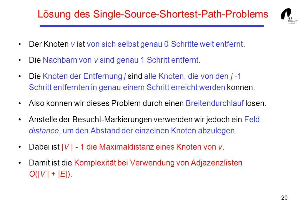 Lösung des Single-Source-Shortest-Path-Problems