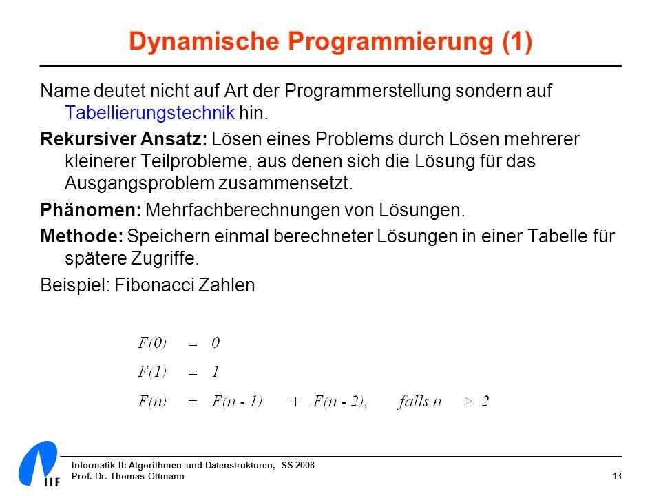 Dynamische Programmierung (1)