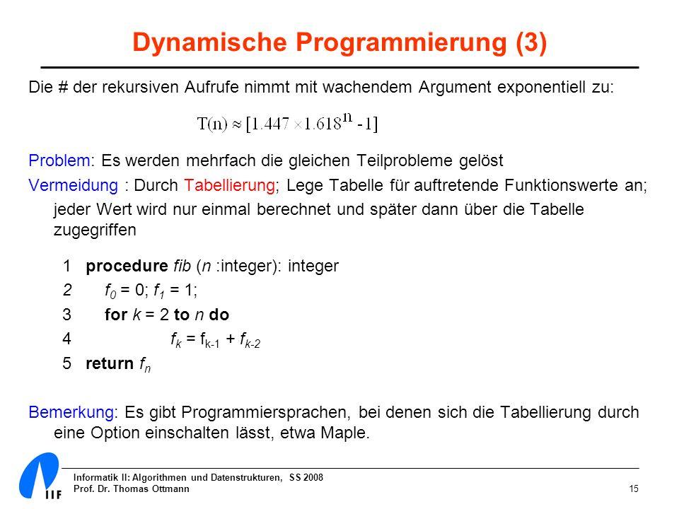 Dynamische Programmierung (3)