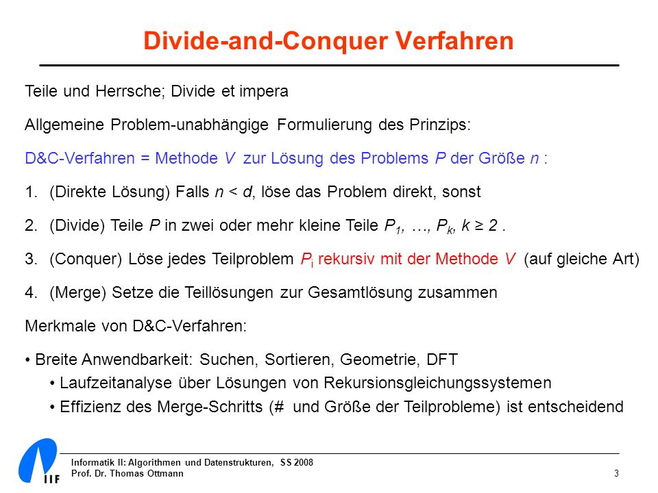 Divide-and-Conquer Verfahren