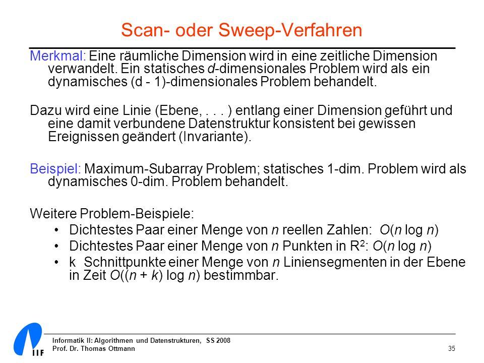 Scan- oder Sweep-Verfahren