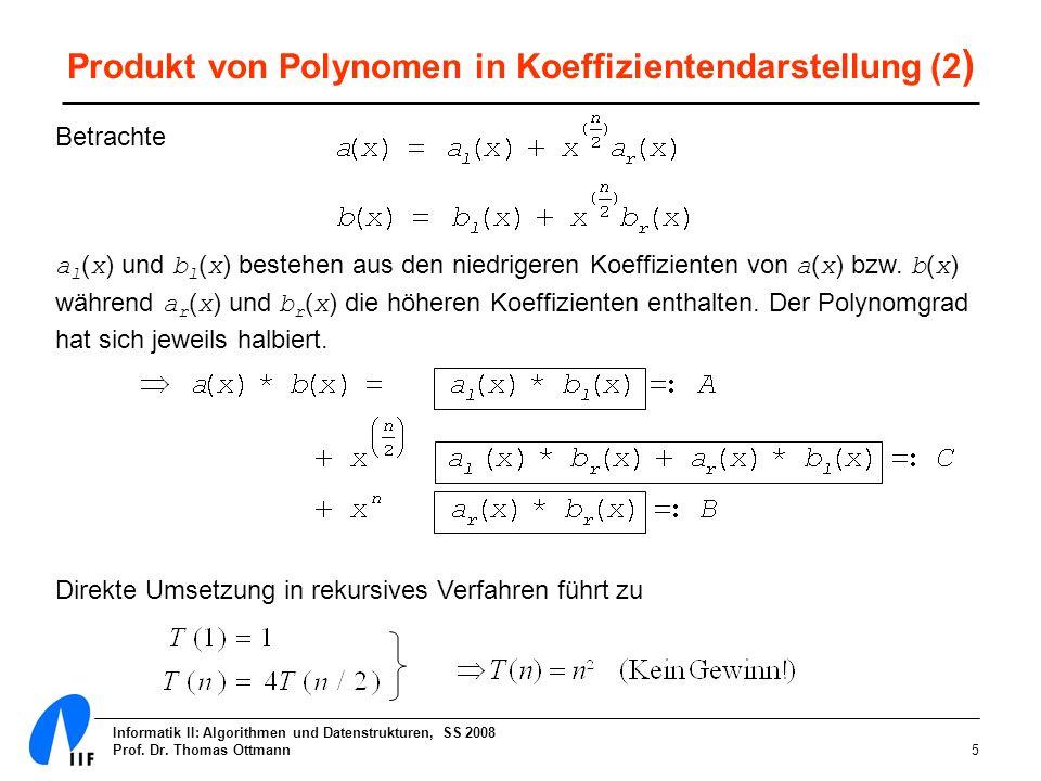 Produkt von Polynomen in Koeffizientendarstellung (2)