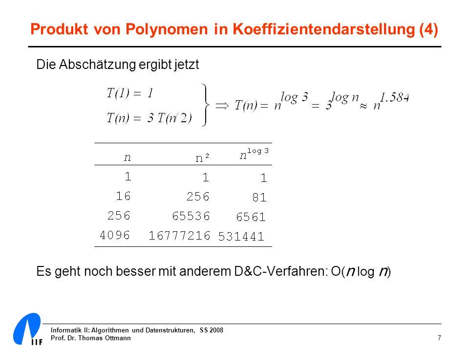 Produkt von Polynomen in Koeffizientendarstellung (4)