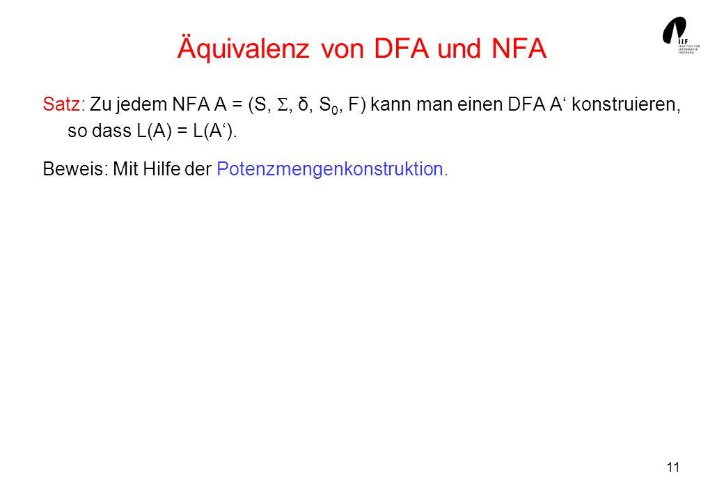 Äquivalenz von DFA und NFA