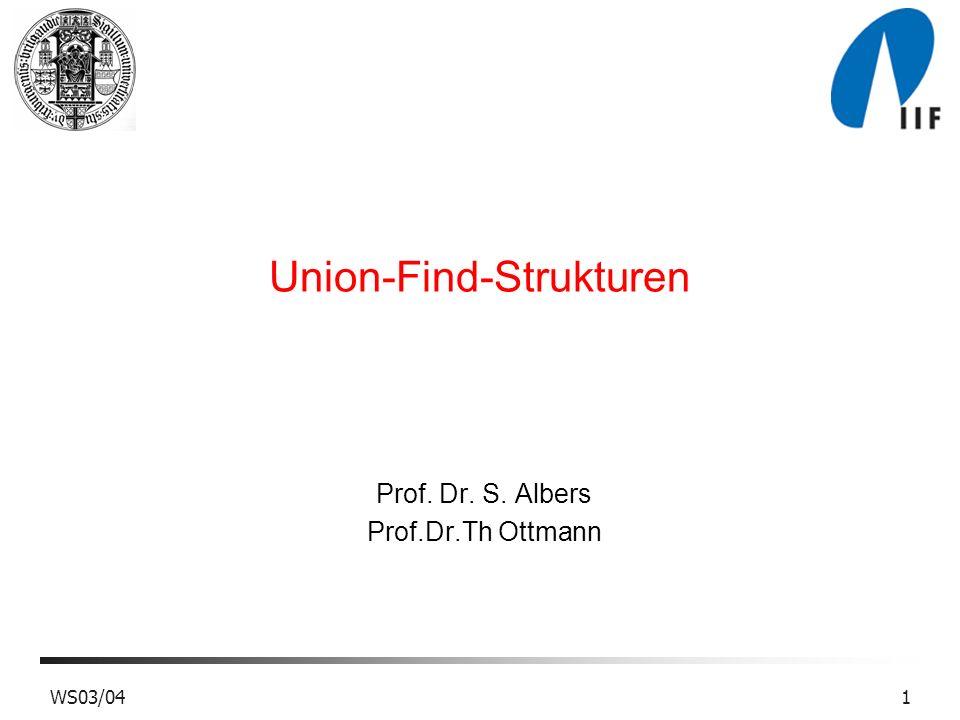 Union-Find-Strukturen