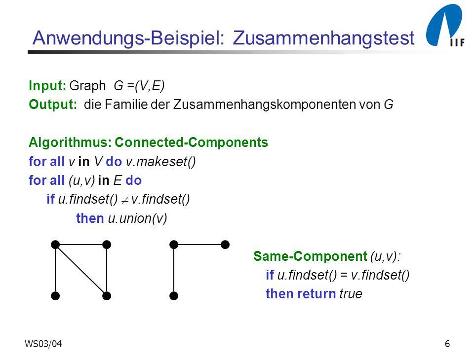 Anwendungs-Beispiel: Zusammenhangstest