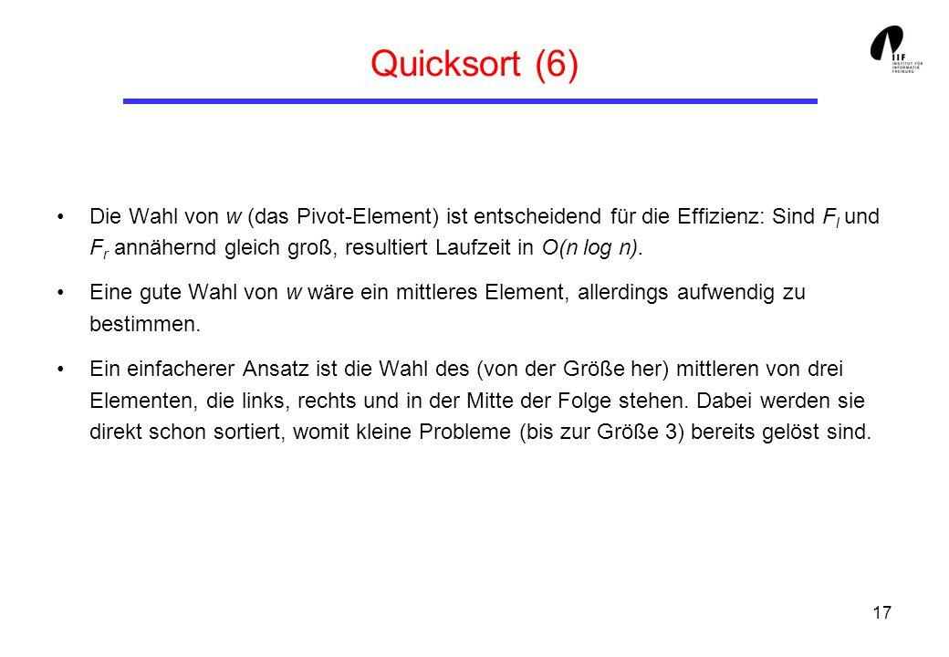 Quicksort (6)
