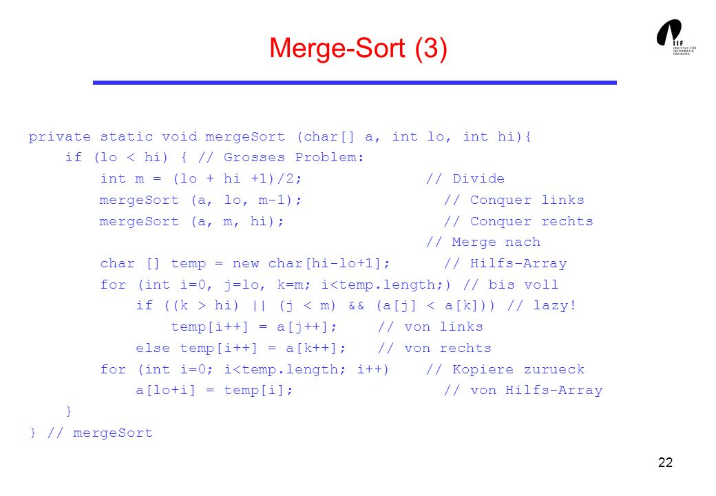 Merge-Sort (3)