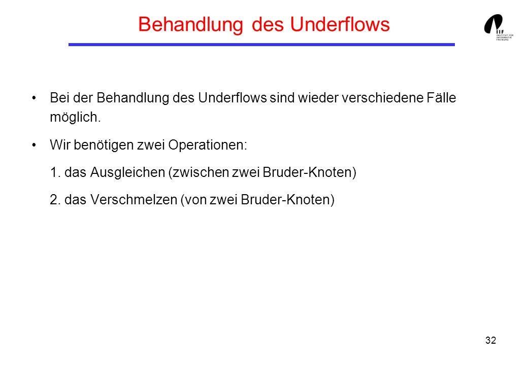Behandlung des Underflows