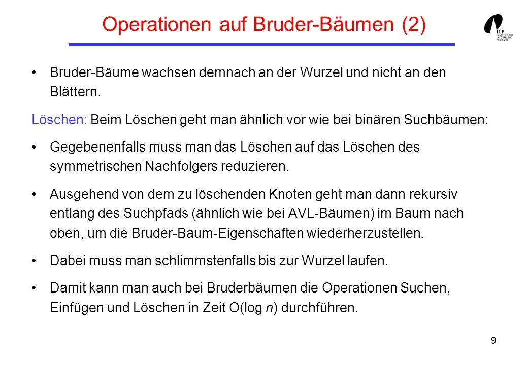 Operationen auf Bruder-Bäumen (2)