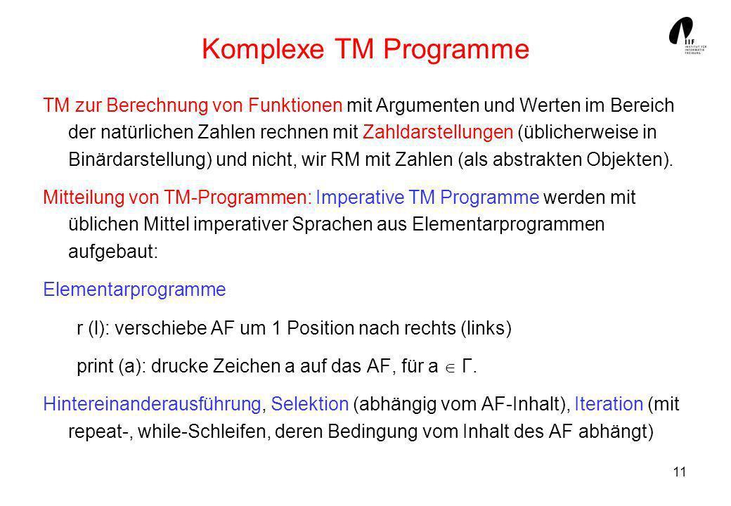 Komplexe TM Programme