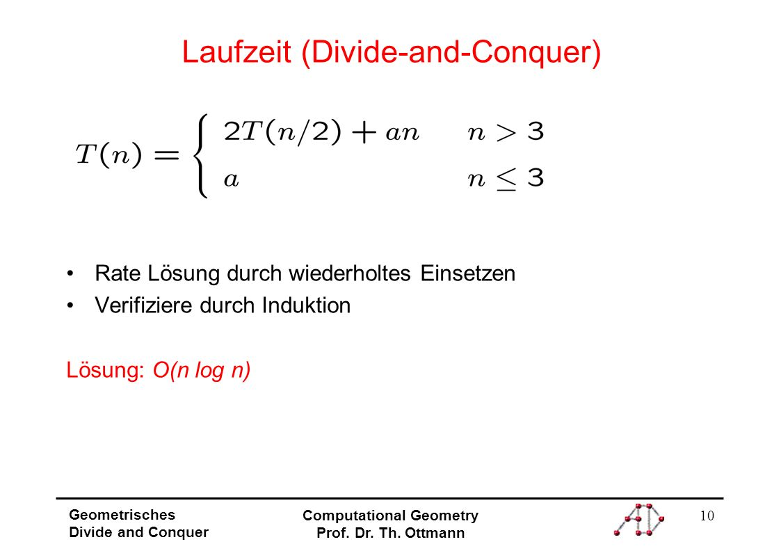 Laufzeit (Divide-and-Conquer)