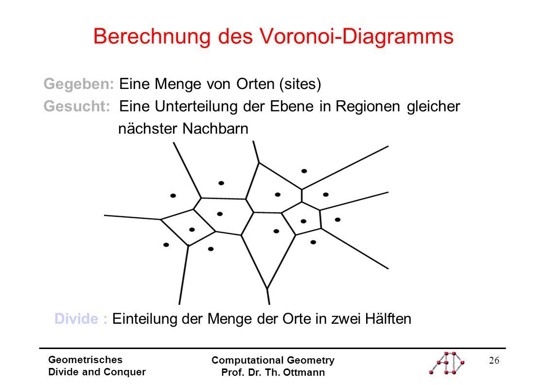 Berechnung des Voronoi-Diagramms