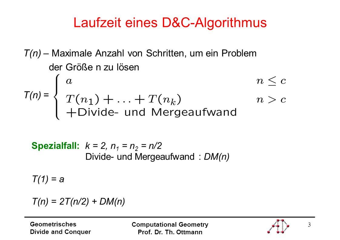 Laufzeit eines D&C-Algorithmus