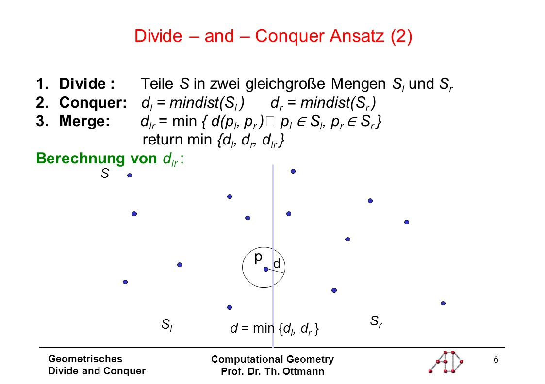 Divide – and – Conquer Ansatz (2)