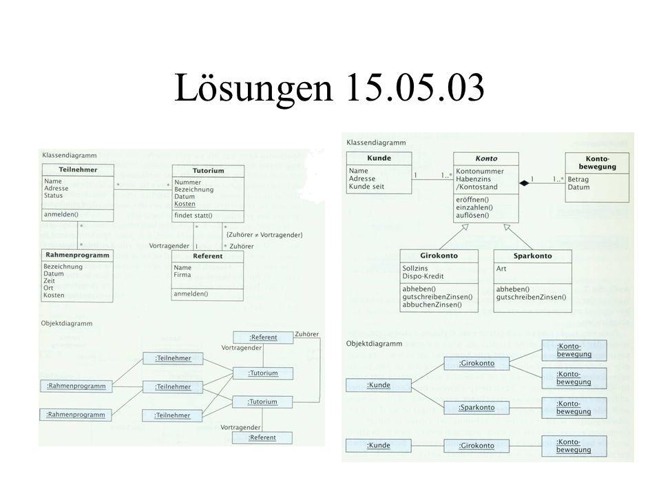 Lösungen 15.05.03