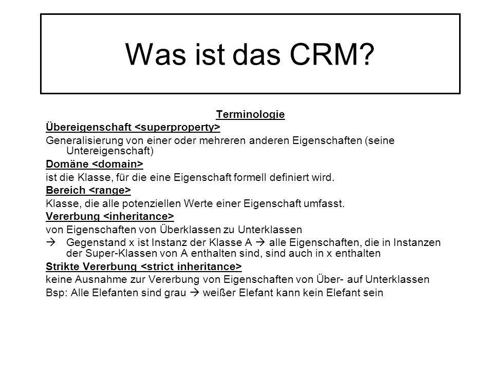 Was ist das CRM Terminologie Übereigenschaft <superproperty>