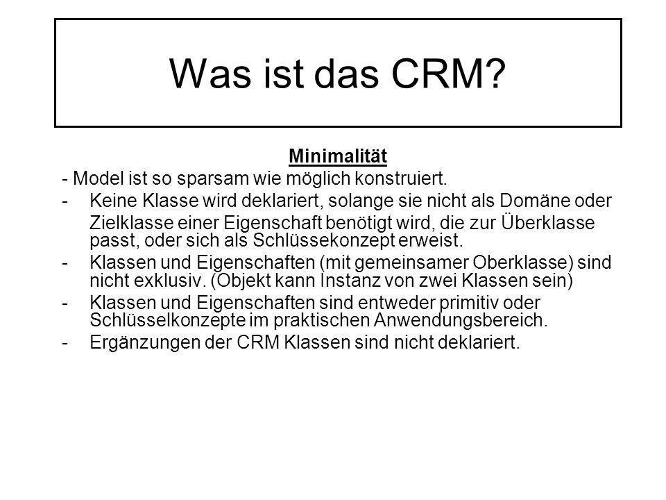 Was ist das CRM Minimalität