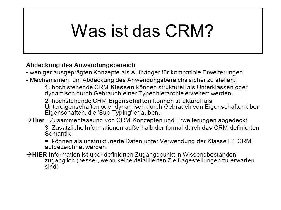 Was ist das CRM Abdeckung des Anwendungsbereich