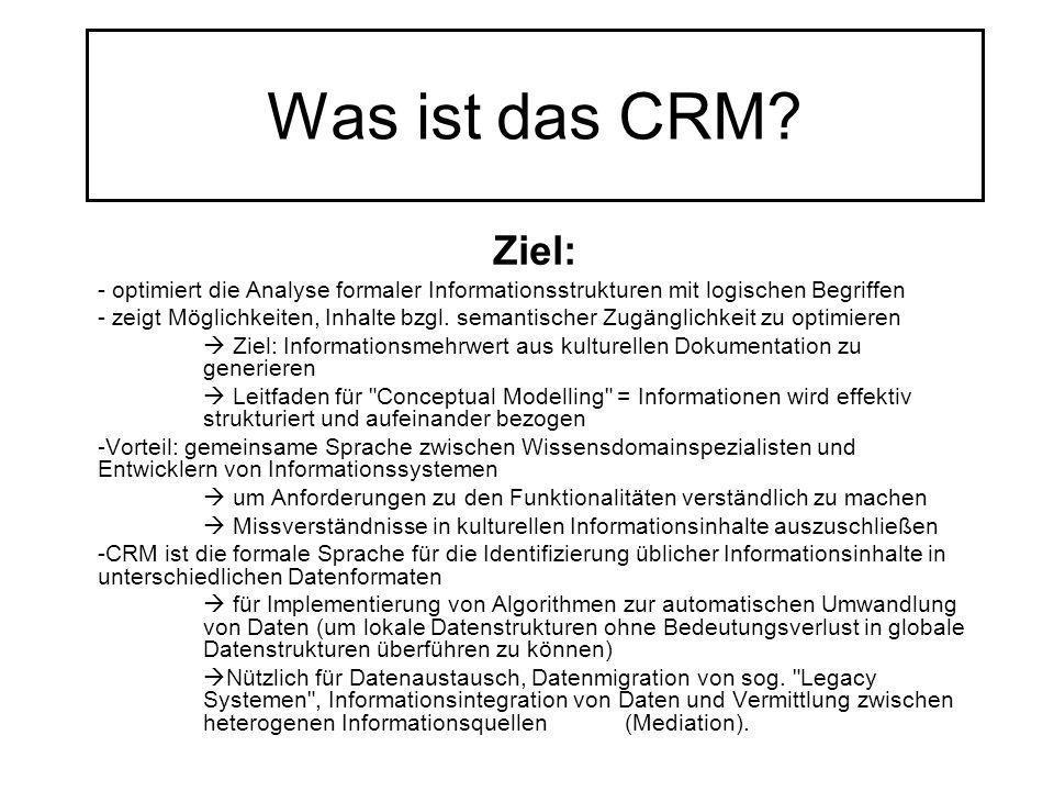 Was ist das CRM Ziel: optimiert die Analyse formaler Informationsstrukturen mit logischen Begriffen.